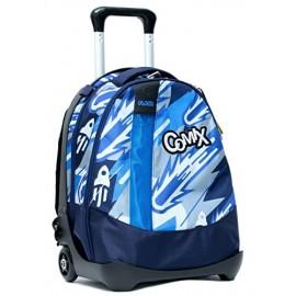 Zaino trolley Comix Flash Camuland Blu con zaino staccabile